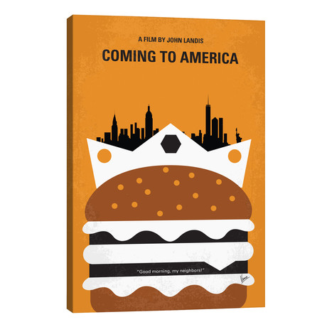 """Coming To America Minimal Movie Poster // Chungkong (26""""W x 40""""H x 1.5""""D)"""