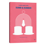 "Dumb & Dumber Minimal Movie Poster // Chungkong (26""W x 40""H x 1.5""D)"