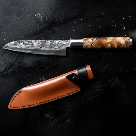 Forged // VG10 Santoku Knife + Leather Sheath