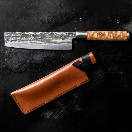 Forged // VG10 Cleaver + Leather Sheath