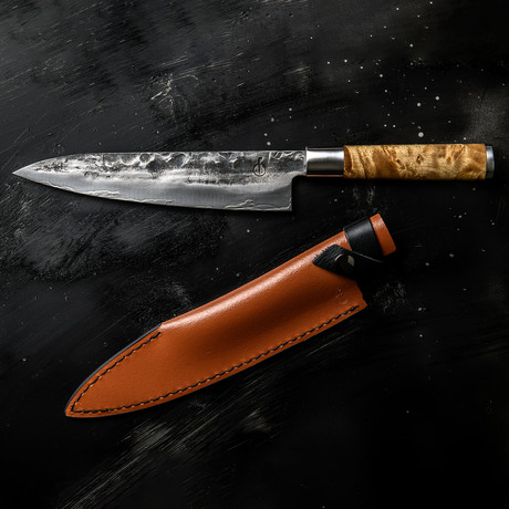 Forged // VG10 Chef's Knife + Leather Sheath