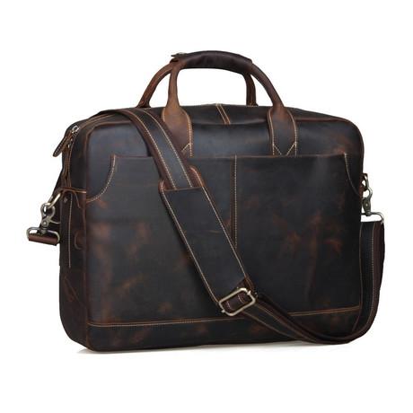Buffalo Messenger Bag + Zipper Closure // Brown