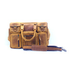 Buffalo 7-Pocket Messenger Bag // Brown