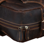 Buffalo Messenger Bag + Zipper Closure // Brown