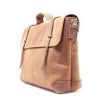 Buffalo Messenger Bag + Strap Closure // Brown