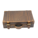 Cow Hide Briefcase // Brown