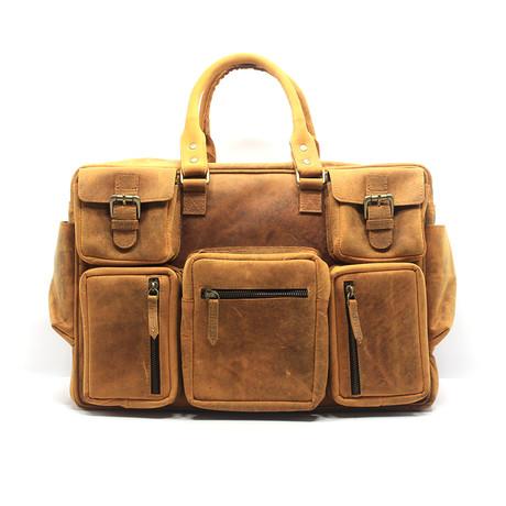 Buffalo 7-Pocket Messenger Bag // Brown