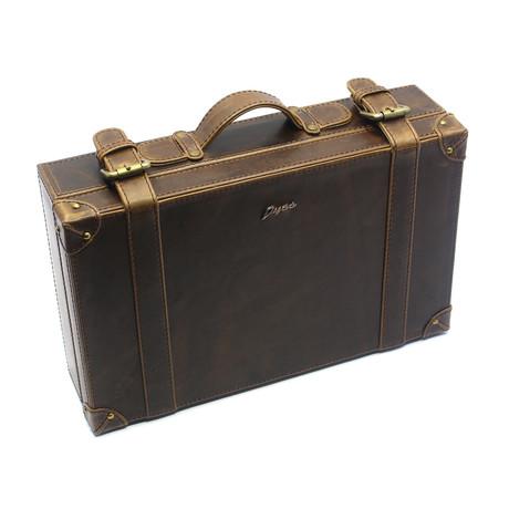 Cow Hide Briefcase // Brown