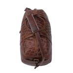 Zig Zag Cow Hide Duffel Bag // Brown