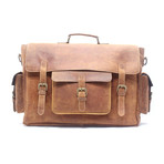 Buffalo Briefcase // Dark Brown