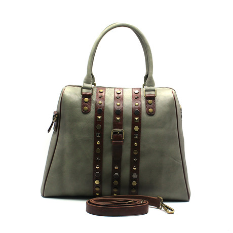 Cow Hide Tote // Green