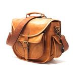 Goat Leather Camera Bag // Brown