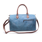 Cow Hide Duffel Bag // Blue