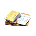 Cow Hide Credit Card Pouch // Brown
