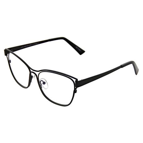 Unisex Cat Eye Readers // Black Marker (+0.00)