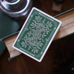Monarch Playing Cards // Green // Set of 2