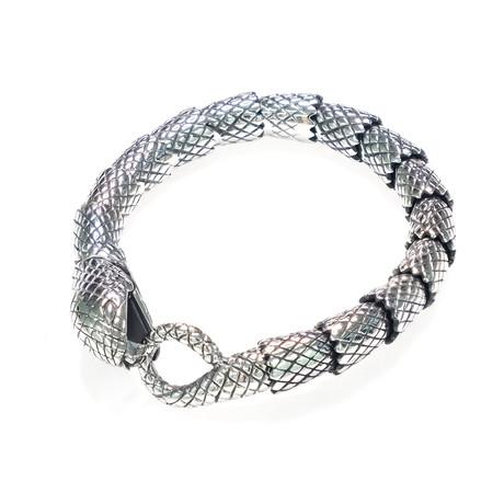 Dell Arte // Lucky Cobra Bracelet // Silver