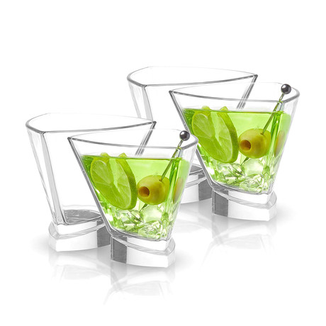 Triangle Martini Glasses // Set of 4