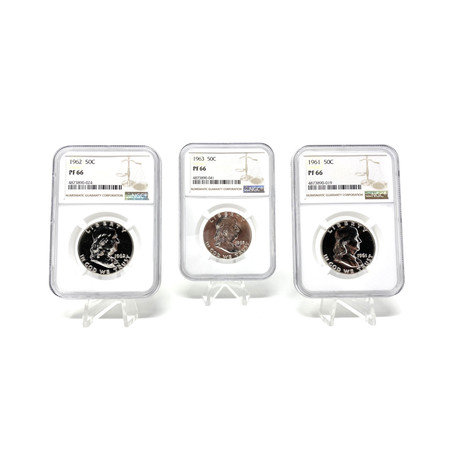Remembering the Franklin Half Dollar // The Final Years (1961-63) // NGC Certified Proof Specimens // Set of 3