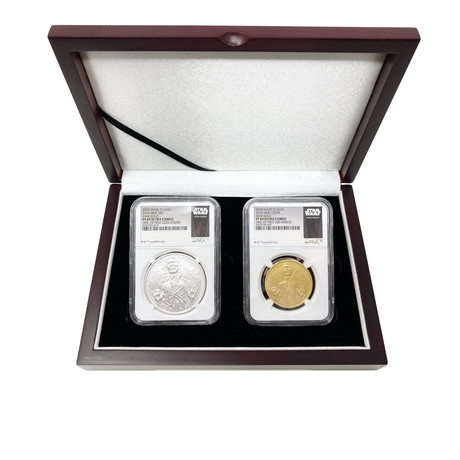 2016 Star Wars Han Solo Gold & Silver Coins // NGC Certified Proof Specimens // Set of 2