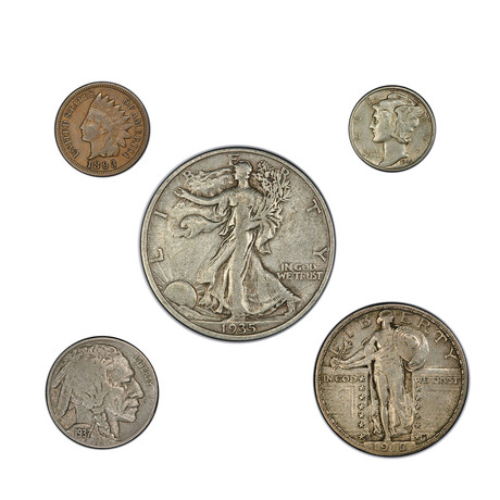 Early 20th Century American Coin Type Set