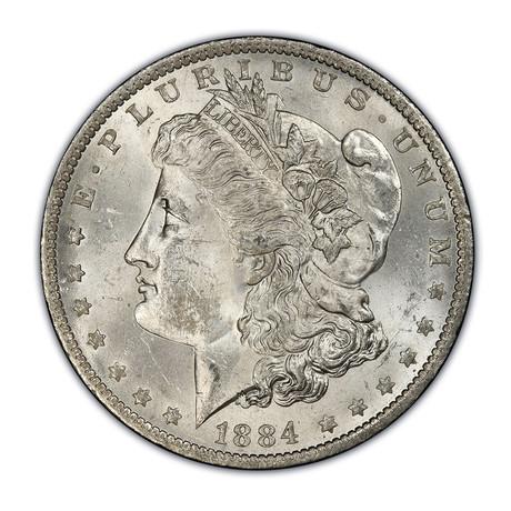 1878-1904 U.S. Morgan Silver Dollar // Mint State Condition // Wood Presentation Box
