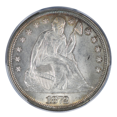 1872 Seated Liberty Dollar PCGS Certified MS63