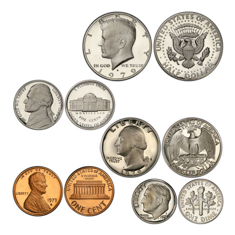 1970's U.S. Proof Coin Sets // Decade Set (57 Coins)