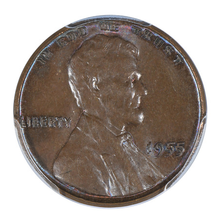 1955 Double Die Obverse Lincoln Wheat Cent PCGS & CAC Certified MS62BN