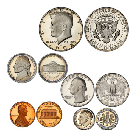 1980s U.S. Proof Coin Sets // Decade Set (52 Coins)