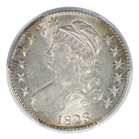 1823 Capped Bust Half Dollar PCGS Certified AU58