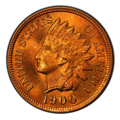 1900 Indian Head Cent PCGS Certified MS66RD