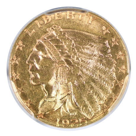 1925-D Indian Head $2.50 Gold Piece PCGS Certified MS62