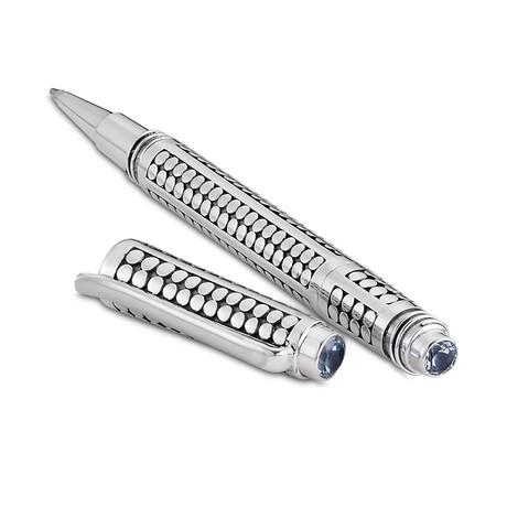 Bali Dot Design Pen // Sterling Silver (Amethyst Endcap)