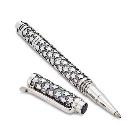 Bali Star Design Pen // Sterling Silver (Amethyst Endcap)