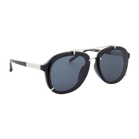 Men's PL162C7SUN Sunglasses // Black + Silver