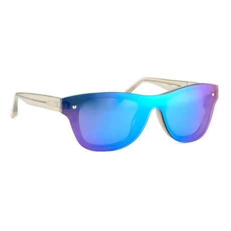 Men's PL5C4SUN Sunglasses // Vapor + Blue Mirror