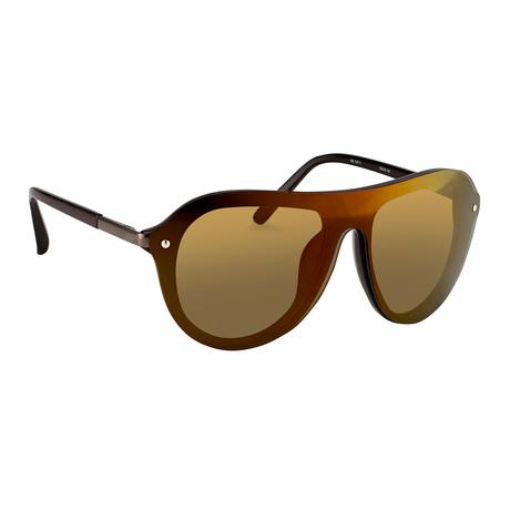 Men's PL74C6SUN Sunglasses // Chocolate + Gunmetal + Bronze Mirror