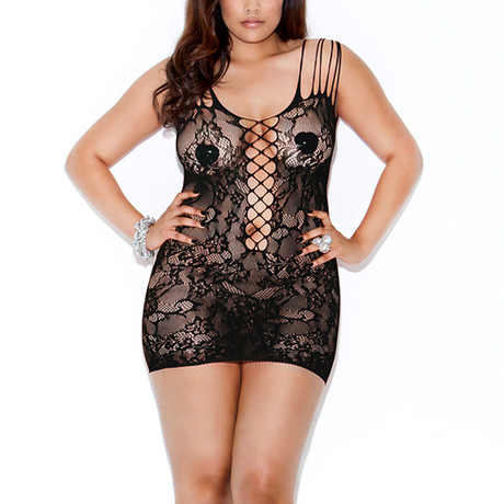 Rebel Rose Chemise // Black // Plus Size