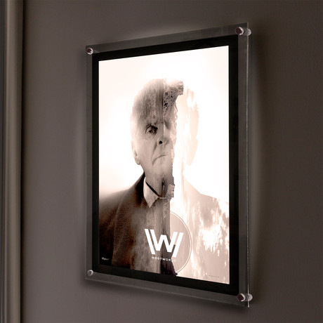 Westworld (Magic Except to the Magician) // MightyPrint™ Wall Art // Backlit LED Frame