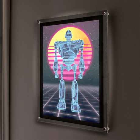Ready Player One (80s Iron Giant) // MightyPrint™ Wall Art // Backlit LED Frame