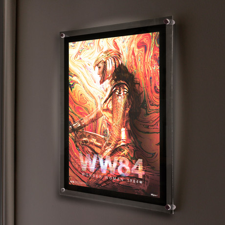 Wonder Woman 1984 (Oil Spill) // MightyPrint™ Wall Art // Backlit LED Frame