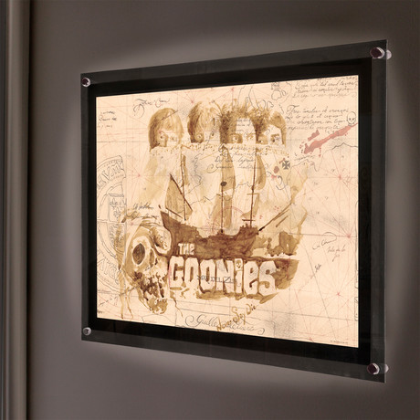 Goonies Treasure Map // MightyPrint™ Wall Art // Backlit LED Frame