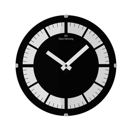 Vitri 300mm Domed Glass Wall Clock // Stainless Steel // V7