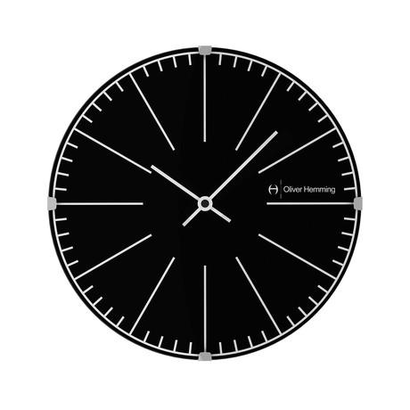 Vitri 300mm Domed Glass Wall Clock // Stainless Steel // V8