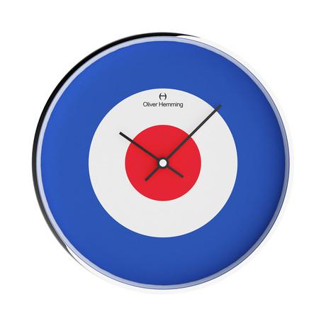 Simplex 300mm Thin Rim Wall Clock // Chrome Steel // V9