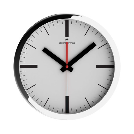 Duplex Wide Rim Wall Clock // Chrome Steel // V9