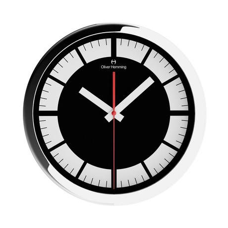 Duplex Wide Rim Wall Clock // Chrome Steel // V8