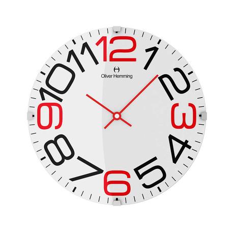 Vitri 300mm Domed Glass Wall Clock // Stainless Steel // V6