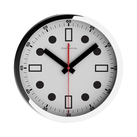 Duplex Wide Rim Wall Clock // Chrome Steel // V3